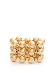 Balenciaga Triple Ball Bead Chain Bracelet Gold