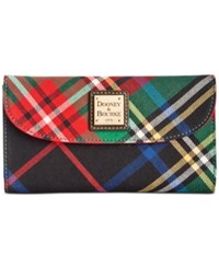 Dooney And Bourke Tartan Wallet Green