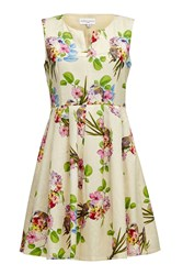 Almost Famous V Neck Garden Party Dress Cream
