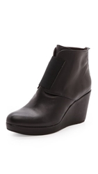 Coclico Halette Wedge Booties Black