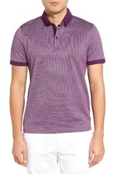 Ted Baker Men's London Tig Jacquard Polo Purple