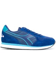 Diadora Panelled Sneakers Women Suede Polyester Tactel Rubber 40 Blue
