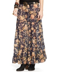 Denim And Supply Ralph Lauren Floral Print Tiered Maxi Skirt Adelaide Floral