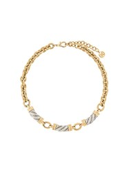 Givenchy Vintage Rope Pendant Detailed Necklace Metallic
