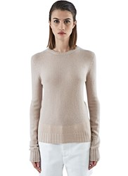 Agnona Long Sleeved Cashmere Knit Sweater Nude
