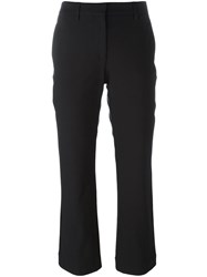 Theory Cropped Trousers Black