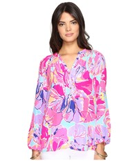 Lilly Pulitzer Elsa Top Multi Jam Out Women's Blouse