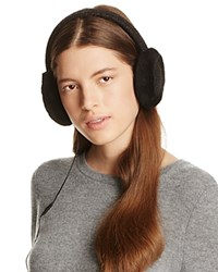 Ugg Wired Headphone Sequined Crochet Earmuffs With Shearling Trim Black
