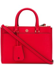 Tory Burch Robinson Small Double Zip Tote Red