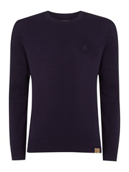 Label Lab Mc Cann Ribbed Shoulder Detailing Crew Neck Jumpe Damson