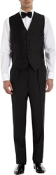 Barneys New York Satin Tuxedo Waistcoat Black
