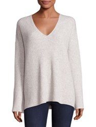 Rag And Bone Phyllis Cashmere Bell Sleeve Sweater Parisian Blue Light Grey Black