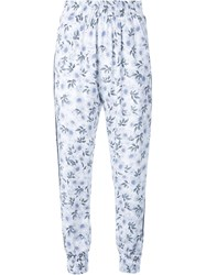 Mother Of Pearl Floral Print Smock Waist Pants White