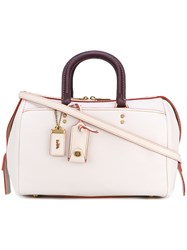 Coach Rouge Tote Women Leather One Size White