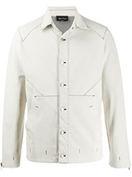 Andrea Ya'aqov Buttoned Denim Jacket White