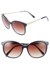 Draper James Women's 56Mm Gradient Lens Sunglasses Blue