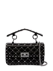 Valentino Garavani Small Spike Rockstuds Leather Bag Black