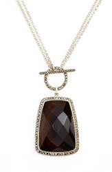Judith Jack Women's Semiprecious Stone Pendant Necklace Black Agate