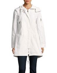 Vince Camuto Hooded Anorak Coat White