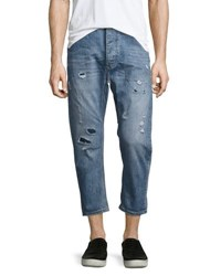 One Teaspoon Mr. Brown Whiskered Distressed Jeans Blue