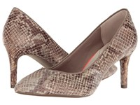 Rockport Total Motion 75Mm Pointy Toe Pump Nude Am Lux High Heels