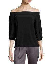 Laundry By Shelli Segal Off The Shoulder Peasant Top Black