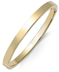 Macy's Polished Smooth Bangle Bracelet In Metallic Yellow Ion Plated Stainless Steel Yellow Gold