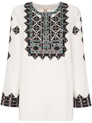 Figue Iris Embroidered Cotton Tunic Top 60