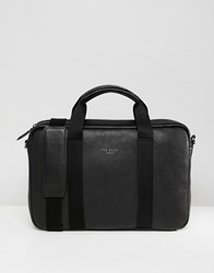 Ted Baker Importa Document Bag In Leather Black