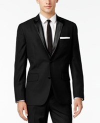 Inc International Concepts Men's Customizable Tuxedo Blazer Only At Macy's Black Slim Peak Lapel Blazer