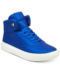 Guess Men's Draymind High Top Sneakers Men's Shoes Royal Blue