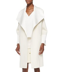 Adam By Adam Lippes Double Face Oversized Collar Coat Cream