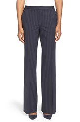 Petite Women's Classiques Entier Pinstripe Stretch Wool Trousers
