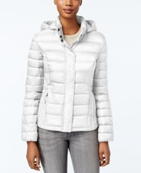 32 Degrees Packable Hooded Puffer Coat Winter White