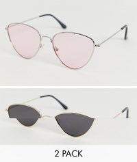 7X Svnx 2 Pack Sunglasses With Tinted Lens Multi