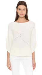 Tess Giberson Moving Rib Crop Sweater Ivory