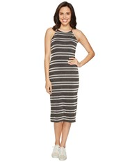 Culture Phit Indra Spaghetti Strap Striped Dress Charcoal Women's Dress Gray