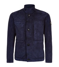 Stone Island 4 Pocket Field Jacket Male Blue