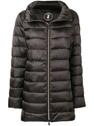 Save The Duck Zipped Padded Coat Brown