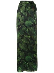 Isolda Gilda Long Skirt Green