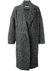Dusan Herringbone Coat Black