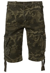 Alpha Industries Jet Shorts Olive Camo Green