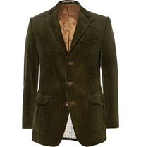 Cordings Green Ripley Slim Fit Corduroy Blazer Green