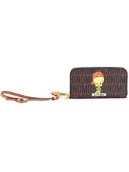 Moschino Tweety Monogrammed Wallet Brown