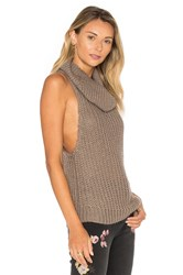 One Teaspoon Kentucky Parisienne Sleeveless Sweater Taupe