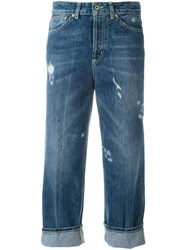 Dondup Distressed Cropped Jeans Blue