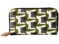 Orla Kiely Matt Laminated Baby Bunny Print Big Zip Wallet Grass Wallet Handbags Green