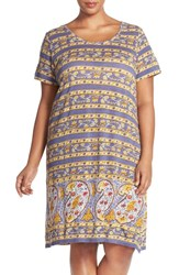 Plus Size Women's Lucky Brand Paisley T Shirt Dress