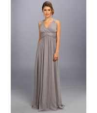 Donna Morgan Julie Bra Friendly Long Gown Sterling Women's Dress Navy
