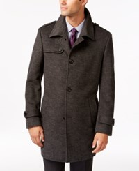 Kenneth Cole Reaction Elmore Slim Fit Tic Overcoat